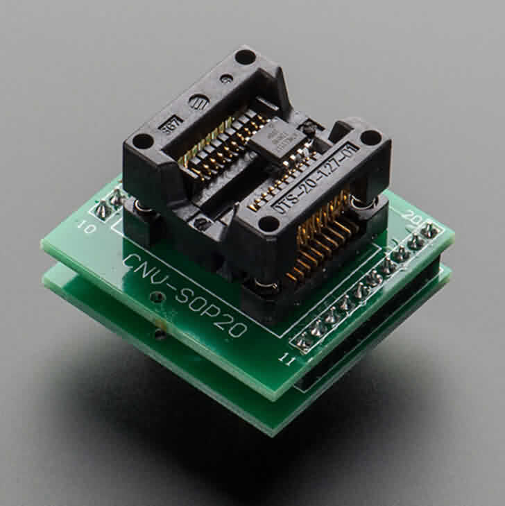 SMT Test Socket - SOIC-20 Medium Breakout